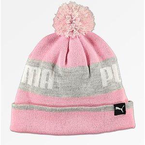 NWT pink puma beanie
